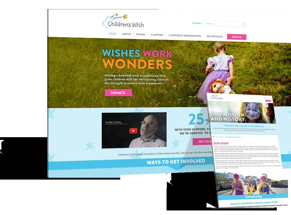 Children's Wish Foundation responsive design
