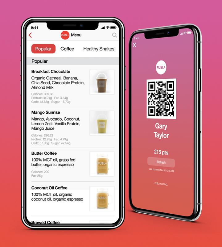 FUEL+ app design
