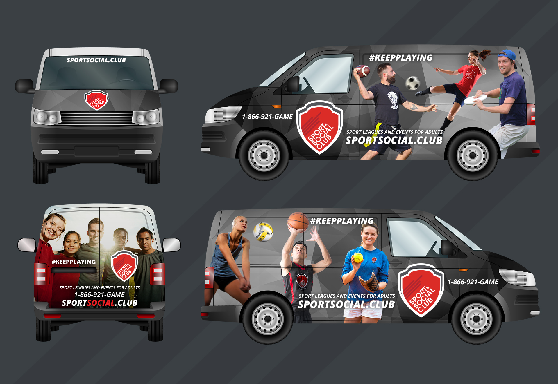 Sports & Social Club vehicle wrap