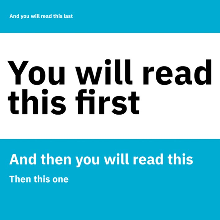 You will read this first