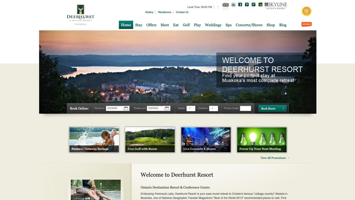 deerhurstresort.com before
