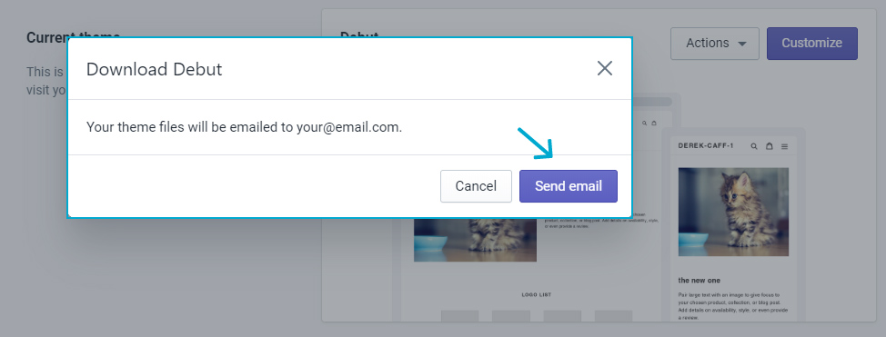 Send email to yourself with the file