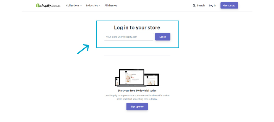 Log in to your store to access the new theme