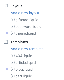 Shopify - altered theme files