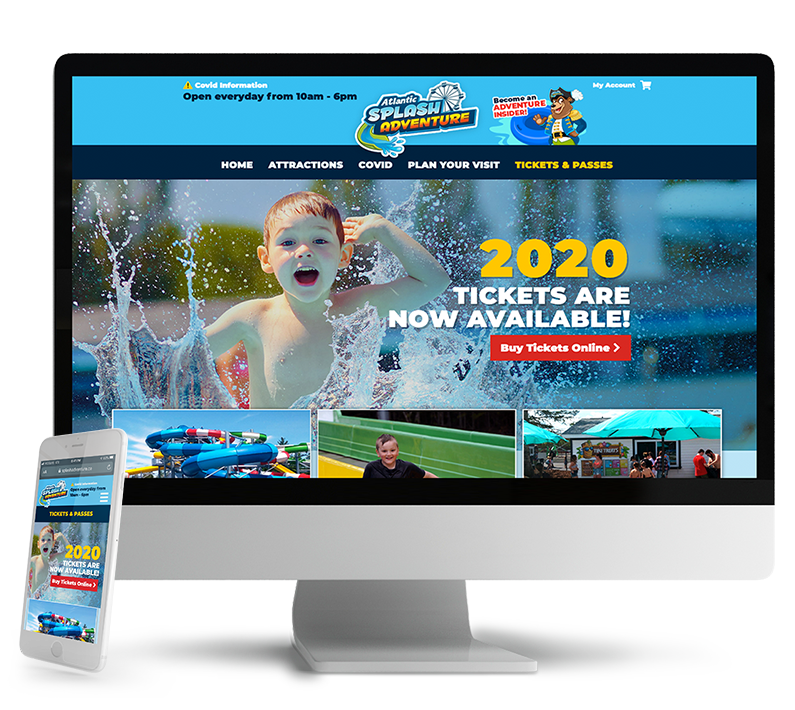 Atlantic Splash Adventure responsive web design