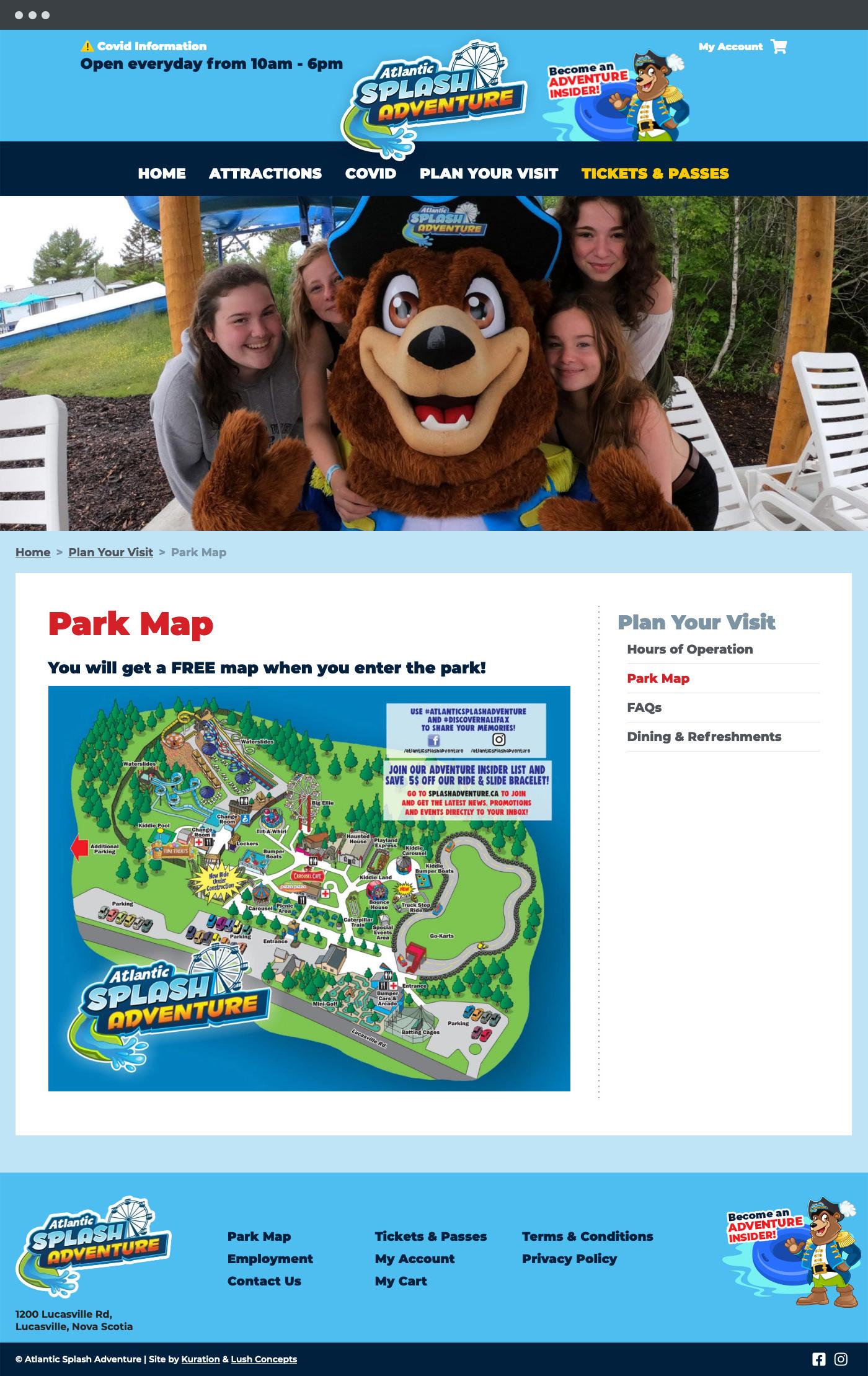 Atlantic Splash Adventure visit the park