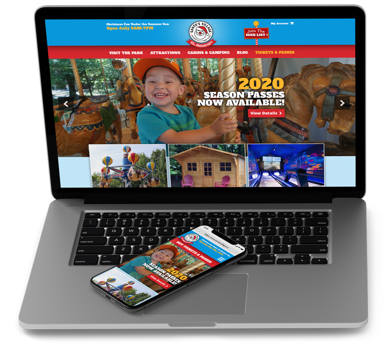 Santa's Village responsive web design