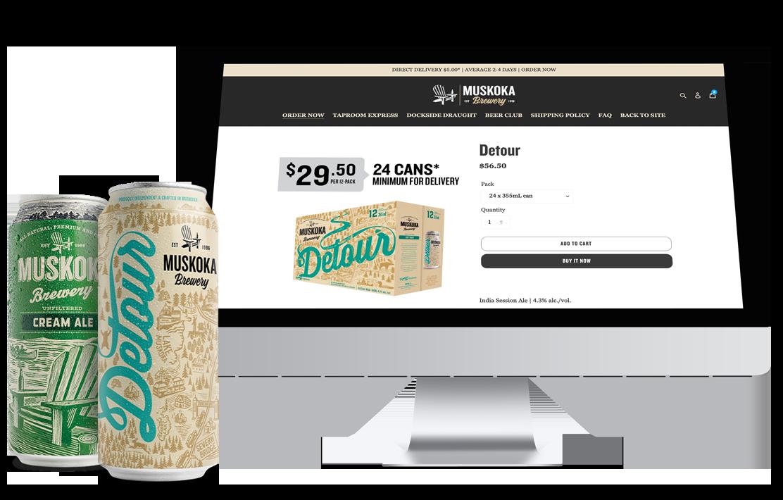 Muskoka Brewery Shopify store development
