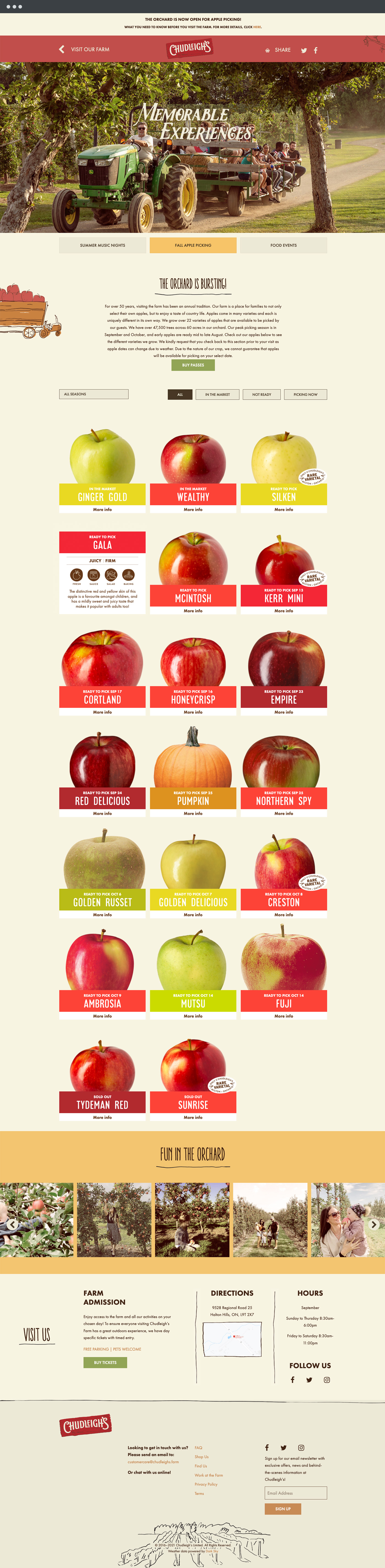Chudleigh's apple page design